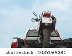 motorcycle on a truck bed...   Shutterstock . vector #1039069381