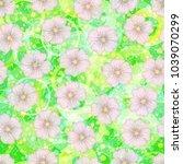 seamless floral pattern  mallow ... | Shutterstock . vector #1039070299