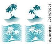 pictograms  exotic landscape... | Shutterstock . vector #1039070305