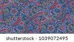 seamless paisley design | Shutterstock . vector #1039072495