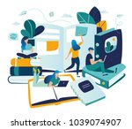 vector color illustration ... | Shutterstock .eps vector #1039074907