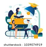 education vector illustration.... | Shutterstock .eps vector #1039074919