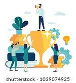 vector business illustration.... | Shutterstock .eps vector #1039074925