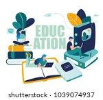 vector graphic elements.... | Shutterstock .eps vector #1039074937