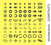 arrows flat vector icons set