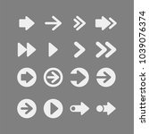 arrows flat vector icons set | Shutterstock .eps vector #1039076374