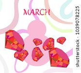greeting card for march 8.... | Shutterstock .eps vector #1039078225