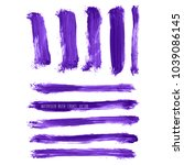 set of vector ultra violet ... | Shutterstock .eps vector #1039086145