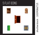 icon flat approach set of gate  ... | Shutterstock . vector #1039086715