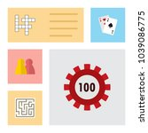 icon flat play set of maze ...   Shutterstock .eps vector #1039086775