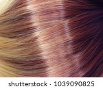 blond shiny hair texture ombre... | Shutterstock . vector #1039090825