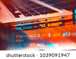software code development as... | Shutterstock . vector #1039091947