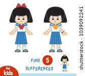 find differences  education... | Shutterstock .eps vector #1039092241