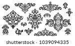 set of oriental vector damask... | Shutterstock .eps vector #1039094335