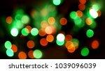multicolored blurred lights... | Shutterstock . vector #1039096039