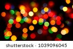 multicolored defocused blurred... | Shutterstock . vector #1039096045