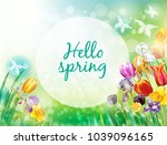 background with multicolor... | Shutterstock .eps vector #1039096165