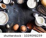 preparation baking kitchen... | Shutterstock . vector #1039098259