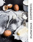 preparation baking kitchen... | Shutterstock . vector #1039098451