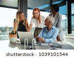 four multinational... | Shutterstock . vector #1039101544