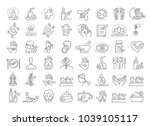vector graphic set. editable... | Shutterstock .eps vector #1039105117