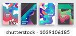 artistic poster templates.... | Shutterstock .eps vector #1039106185