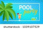 banner or flyer for summer... | Shutterstock .eps vector #1039107529