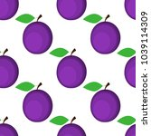 seamless background  plum on... | Shutterstock . vector #1039114309