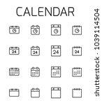calendar related vector icon... | Shutterstock .eps vector #1039114504