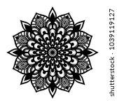 mandala. arabesque. round... | Shutterstock .eps vector #1039119127
