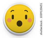 frightened smiley with an open... | Shutterstock .eps vector #1039120651