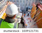 civil engineer or architect... | Shutterstock . vector #1039121731