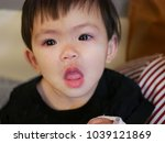 close up of asian baby   infant'... | Shutterstock . vector #1039121869