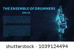 the drummer of the particles.... | Shutterstock .eps vector #1039124494