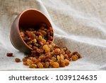 ceramic bowl with golden...   Shutterstock . vector #1039124635