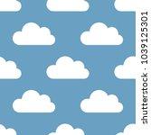 seamless background  clouds.... | Shutterstock . vector #1039125301