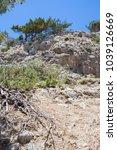 rouvos gorge on crete  greece....   Shutterstock . vector #1039126669