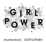 girl power   stylish print for... | Shutterstock .eps vector #1039129684