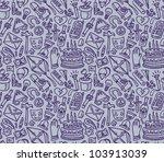 doodle cute seamless pattern | Shutterstock . vector #103913039