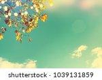 autumn leaves background | Shutterstock . vector #1039131859