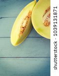 juicy honeydew melon on a... | Shutterstock . vector #1039131871