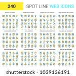 vector set of 240 64x64 pixel...   Shutterstock .eps vector #1039136191