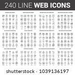 vector set of 240 64x64 pixel...   Shutterstock .eps vector #1039136197