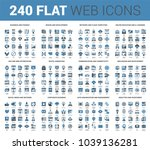 vector set of 240 64x64 pixel... | Shutterstock .eps vector #1039136281