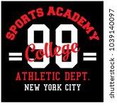 sports academy college... | Shutterstock .eps vector #1039140097