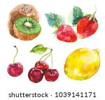 watercolor painted collection... | Shutterstock .eps vector #1039141171