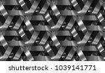 3d wall interlocking black... | Shutterstock . vector #1039141771