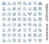 set of hotel icons. vector... | Shutterstock .eps vector #1039142881