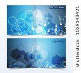 scientific templates square...   Shutterstock .eps vector #1039143421
