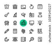 education  school line icons... | Shutterstock .eps vector #1039145227